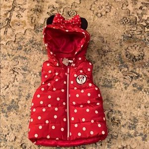 Minnie Mouse winter vest size 2T NWT